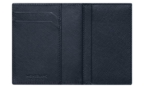 Montblanc sartorial black leather business card holder with gusset montblanc sartorial black leather business card holder with gusset 1 reheart Choice Image