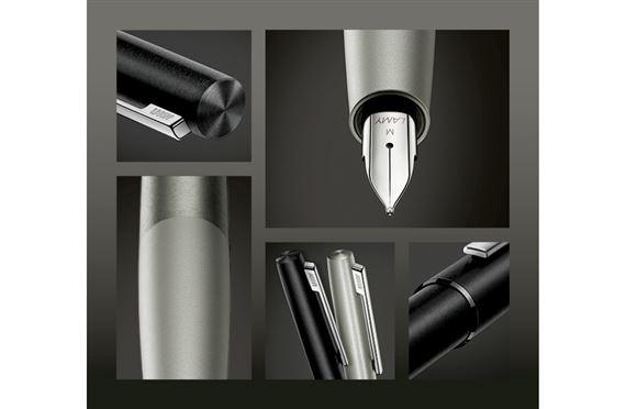 Pennino in acciaio INOX lucidato EF Lamy 1232249 Aion Z 53