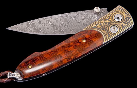 William Henry B10 Overlook Lancet Snakewood Knife