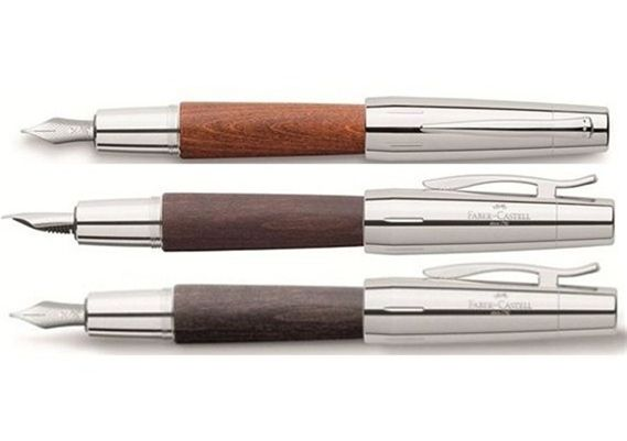 Faber-Castell e-motion Fountain Pen Black Wood and Chrome