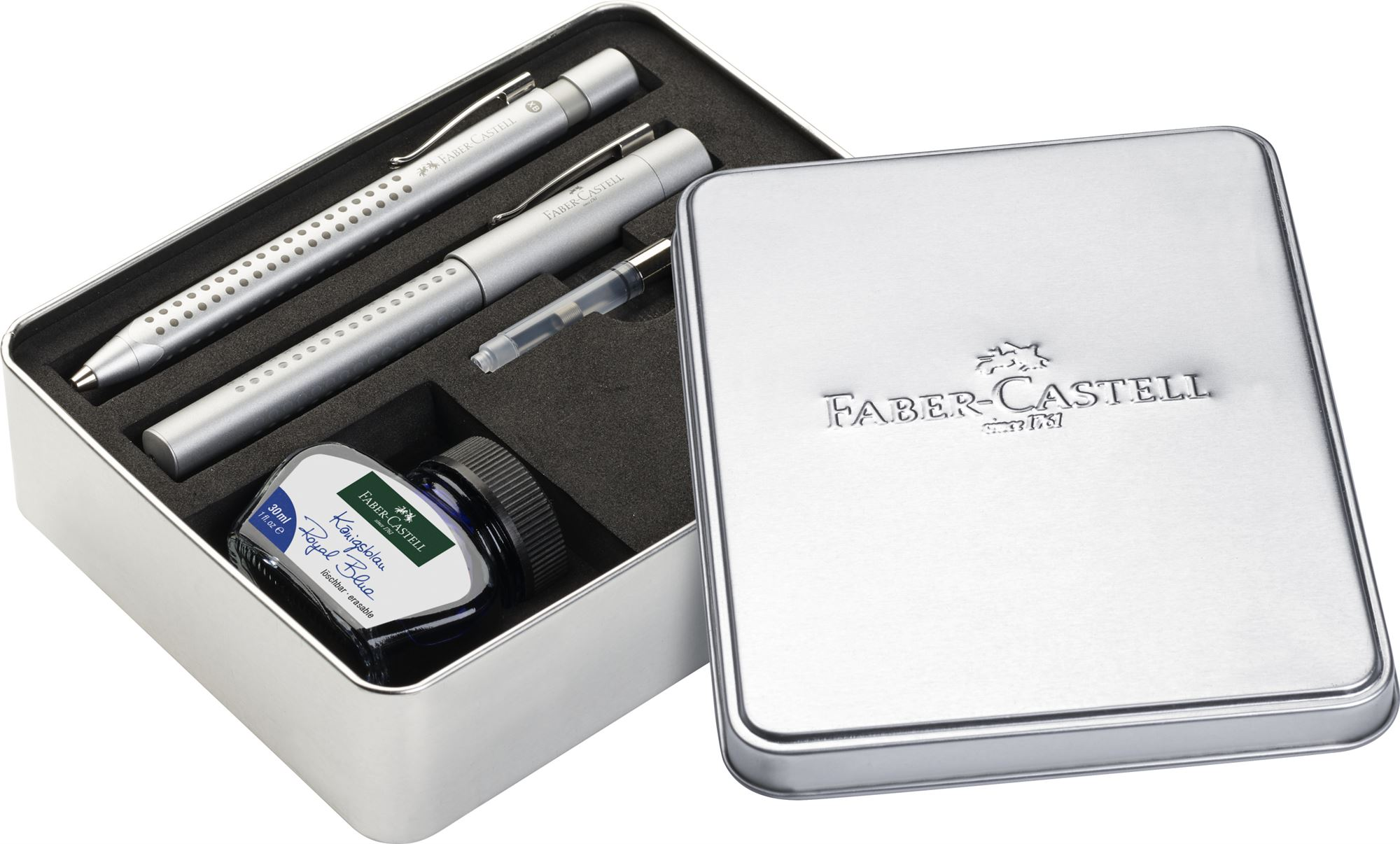 fabercastell grip inkballpoint and fountain pen set