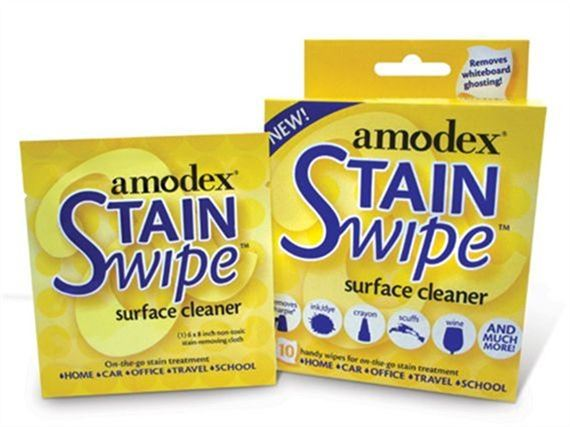 Amodex Ink and Stain Remover Surface Cleaner Wipes 10 pack