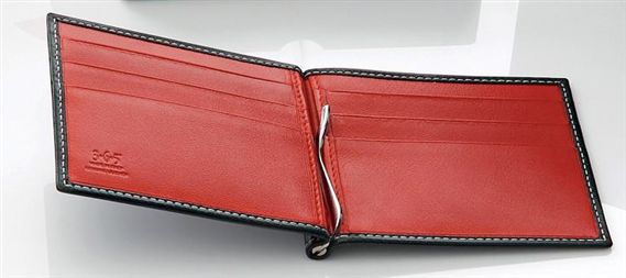 Ducati Officina Leather Wallet with Money Clip