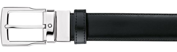 Montblanc Men's Palladium Reversible Belt - Black/Brown