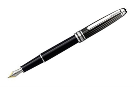 Montblanc Black and White Doue Classique Fountain Pen