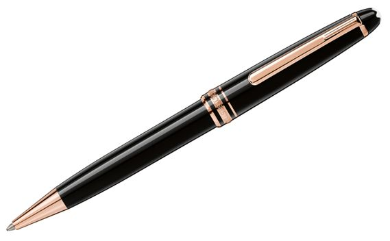 Montblanc Meisterstuck Classique Red Gold Trim Ballpoint Pen