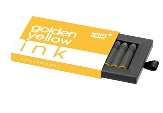 Montblanc Ink Cartridges 8 Pack Golden Yellow
