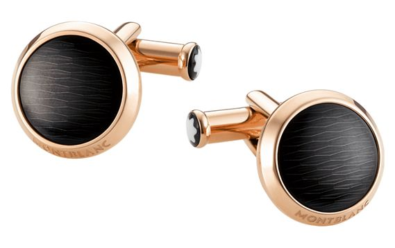 Montblanc Iconic Black & Red Gold Cufflinks
