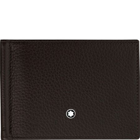 Montblanc Meisterstuck Leather Wallet 6cc with Money Clip - Brown