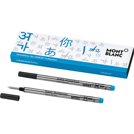 Montblanc UNICEF Blue Rollerball Refill 2/Pack