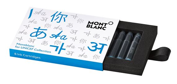 Montblanc UNICEF Blue Ink Cartridges 8/Pack