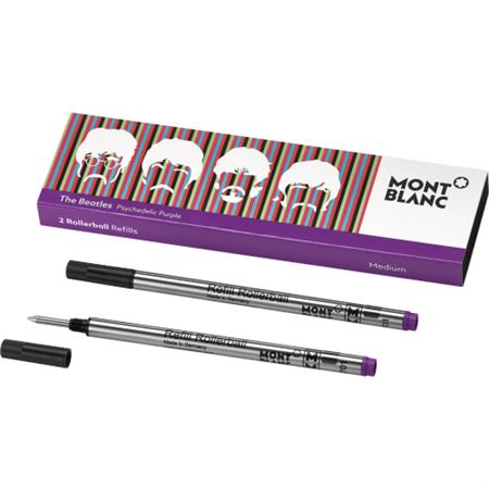 Montblanc Beatles Psychedelic Purple Rollerball Refill 2/Pack
