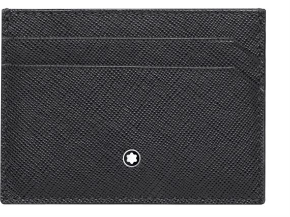Montblanc Sartorial Leather Pocket Credit Card Holder - Grey