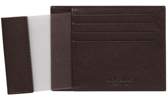 Montblanc Sartorial Leather Pocket Credit Card Holder - Tobacco