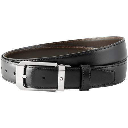 Montblanc Rectangular Pin Buckle Reversible Belt - Black/Brown