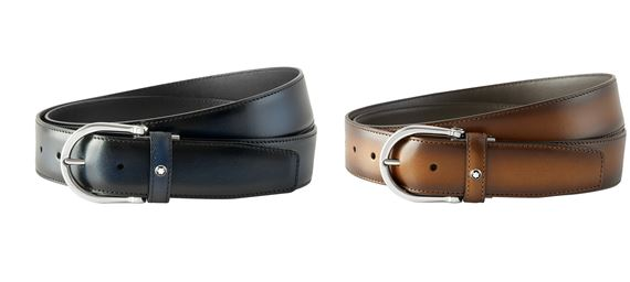 Montblanc Horseshoe Pin Buckle Leather Belt