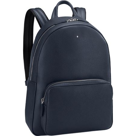 Montblanc Leather Backpack - Blue