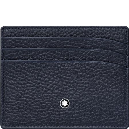 Montblanc Leather Pocket Holder 6CC - Blue