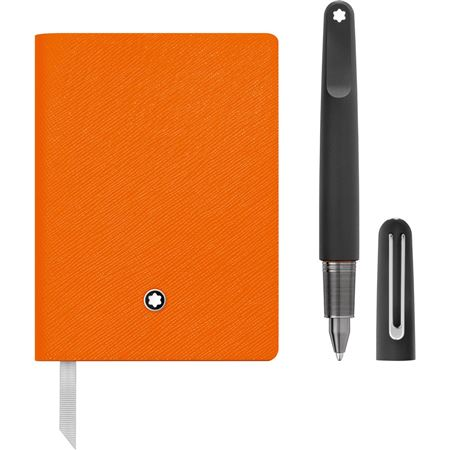 Montblanc M Ultra Black Ballpoint Pen and Lucky Orange Stationery Set