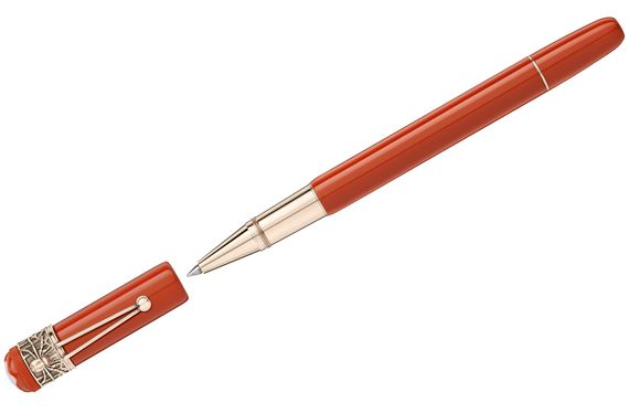 Montblanc Heritage Rouge and Noir Spider Rollerball - Coral