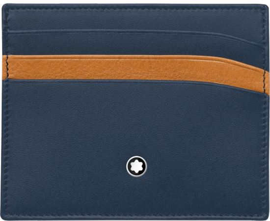 Montblanc Meisterstuck Pocket Holder 6cc - Navy/Tan