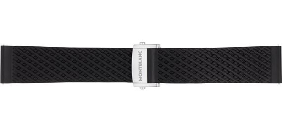 Montblanc Summit 2 Black Rubber Replacement Strap