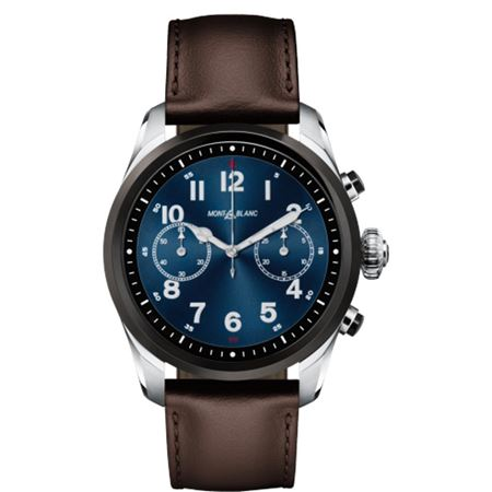 Montblanc Summit 2 Bicolor Steel and  Leather Smartwatch