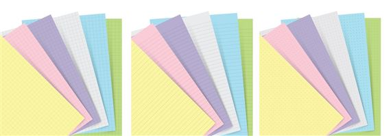 Filofax Pocket Notebook Refill Pastel
