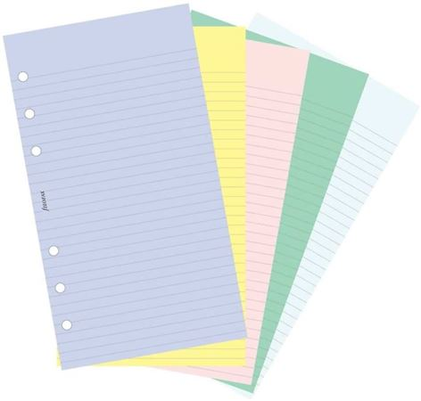 Filofax Personal Colored Ruled & Plain Paper 100 Leaves