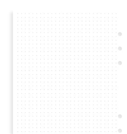 Filofax A5 Journal Dotted Refill 30 sheets White