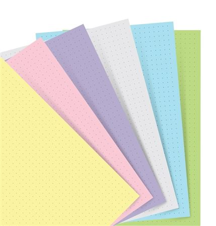 Filofax Personal Journal Dotted Refill 60 sheets Pastel