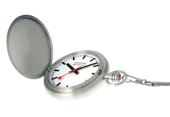 Mondaine Swiss Railways Savonnette Pocket Watch