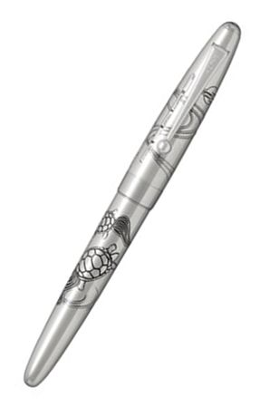 Pilot Sterling Silver Turtles Fountain Pen