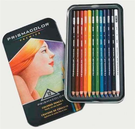 Prismacolor Colored Pencils 12 Pack Tin
