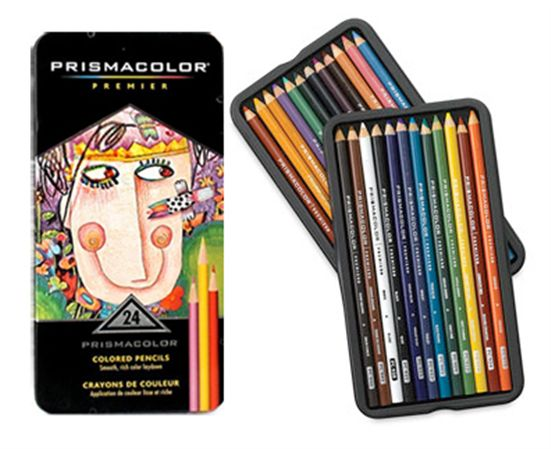 Prismacolor Colored Pencils 24 Pack Tin