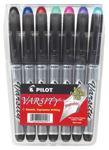 Pilot Varsity Disposable Fountain Pens 7 Pack