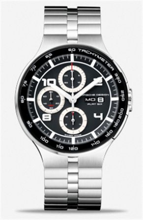 Porsche Design P'6360 Flat Six Automatic Chronograph Men's Watch Steel Band