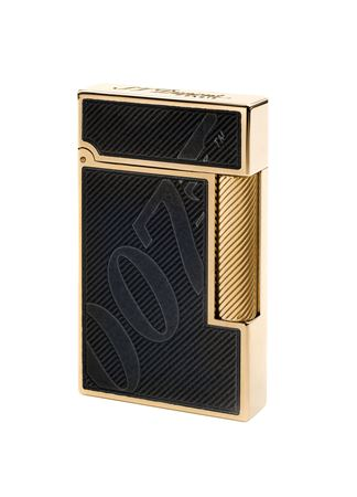 Dupont Limited Edition 007 Black Lacquer Gold Trim Line 2 Lighter