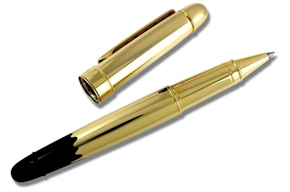 ACME Hybrid Robert Stadler Designed Gold Dipped Rollerball Pen