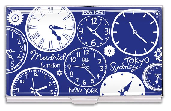 ACME Nancy Wolff Designed Clocks Card Case