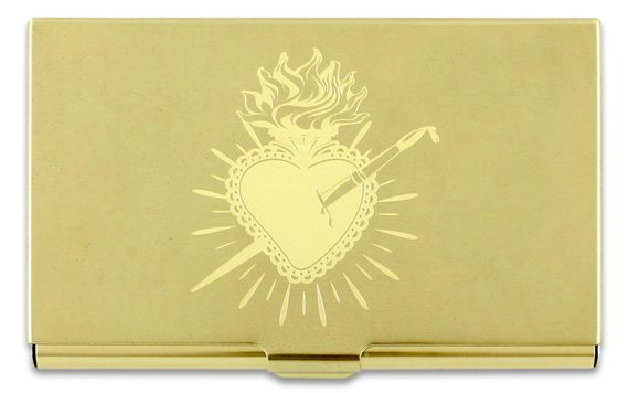 ACME Frida Kahlo Inspired Etched Heart Card Case
