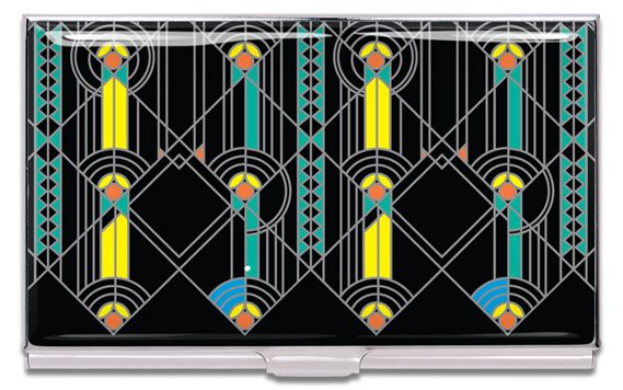 ACME Frank Lloyd Wright Inspired April Showers Card Case