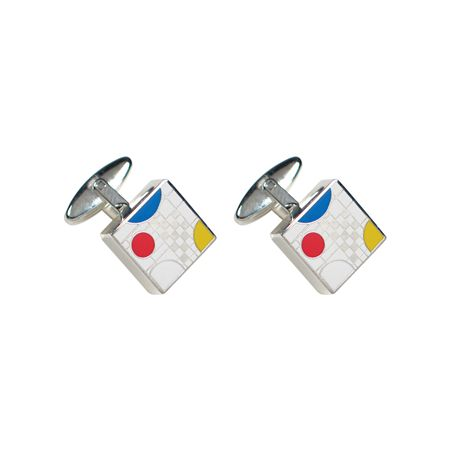 Acme Frank Lloyd Wright Inspired White Playhouse Cufflinks