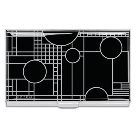 ACME Frank Lloyd Wright Inspired Black Playhouse Card Case