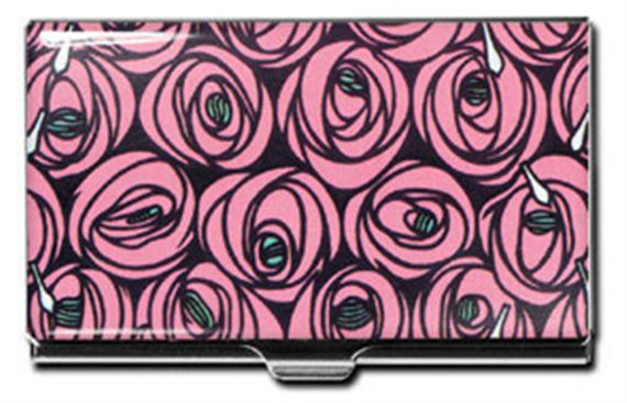 ACME Charles Mackintosh Inspired Roses Card Case