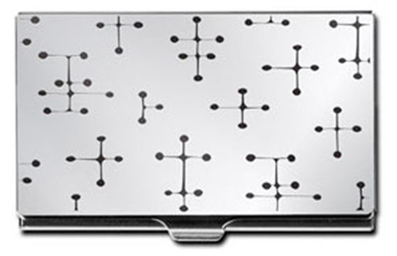 ACME Eames Inspired Black Dots Etched Card Case