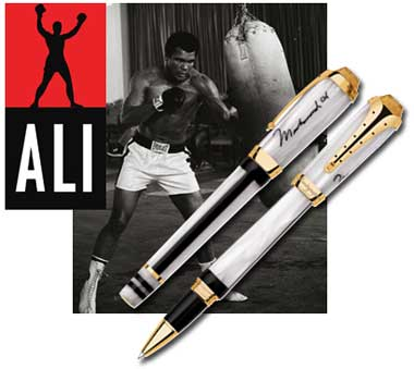 Montegrappa Limited Edition Muhammad Ali Gold Rollerball