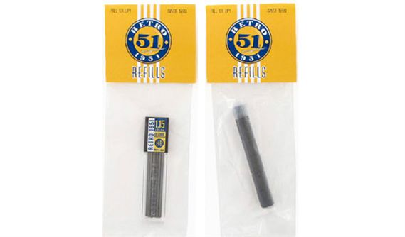 Retro 51 1.15mm Lead Pencil And Black Eraser Refill