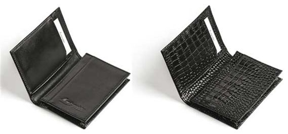 Montegrappa NeroUno Black Leather Business Card Case