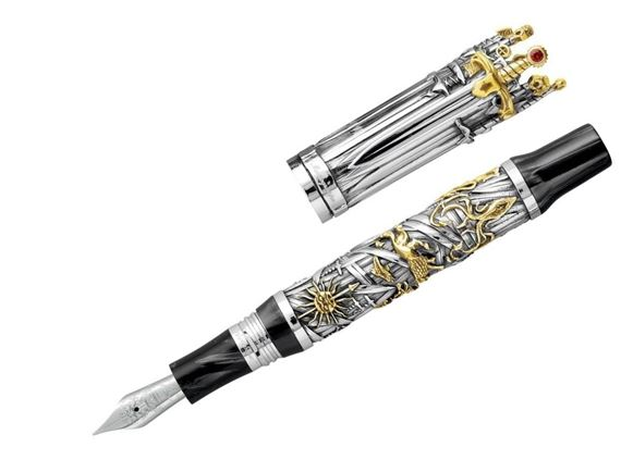 Montegrappa Limited Edition Game of Thrones Silver Fountain Pen